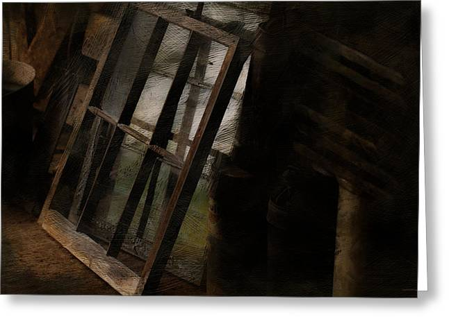 Shed Digital Art Greeting Cards - The Window Shop Greeting Card by Ron Jones