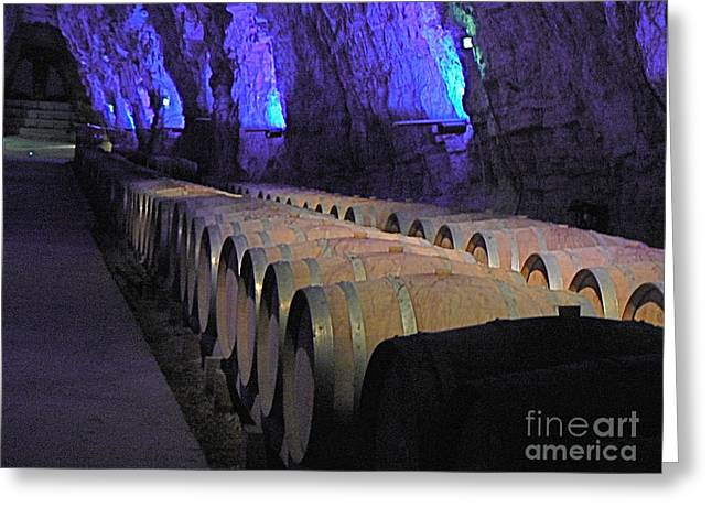 Wine Tour Greeting Cards - The Wine Cave Greeting Card by France  Art