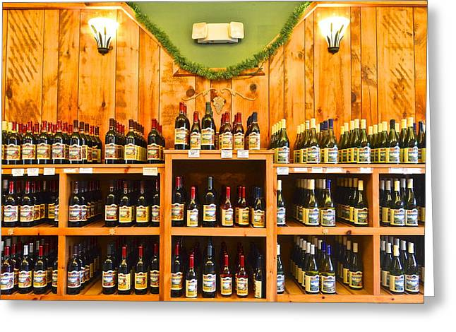 Fermentation Photographs Greeting Cards - The Wine Cellar Greeting Card by Frozen in Time Fine Art Photography