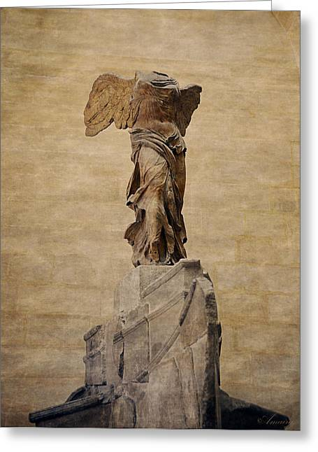 Greek Goddess Nike Greeting Cards - The Winged Victory Of Samothrace Greeting Card by Maria Angelica Maira