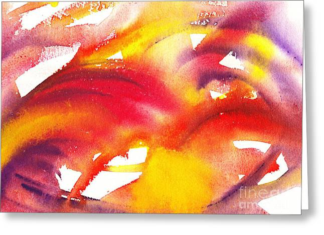 The Wings Of Light Abstract Greeting Card by Irina Sztukowski
