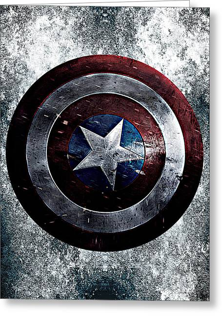 Captain America Greeting Cards - The winter soldier Greeting Card by Renato Armignacco