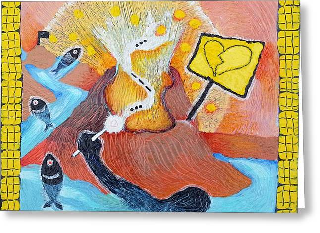 Taum Sauk Greeting Cards - The Wish of a Drowning Man Greeting Card by Corey Habbas