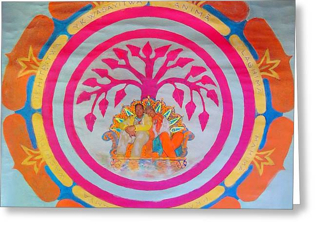 Art Of Vital Greeting Cards - The Wishing Tree Of Life Chakra  Greeting Card by Gaia Tamar Saday