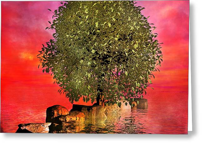 Submerge Greeting Cards - The Wishing Tree Two of Two Greeting Card by Betsy C  Knapp