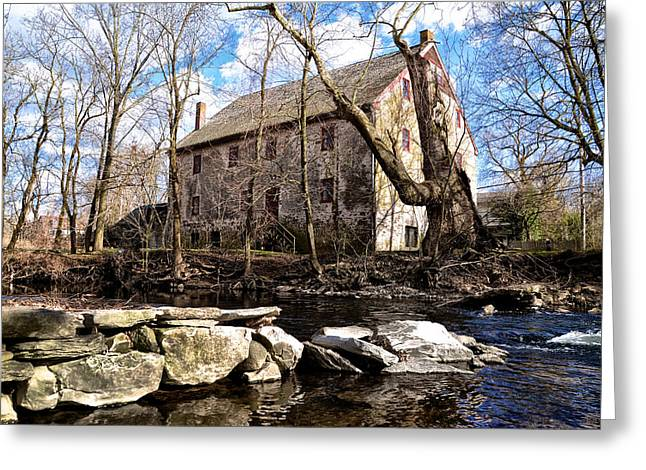 Wissahickon Greeting Cards - The Wissahickon Creek and Mather Mill Greeting Card by Bill Cannon