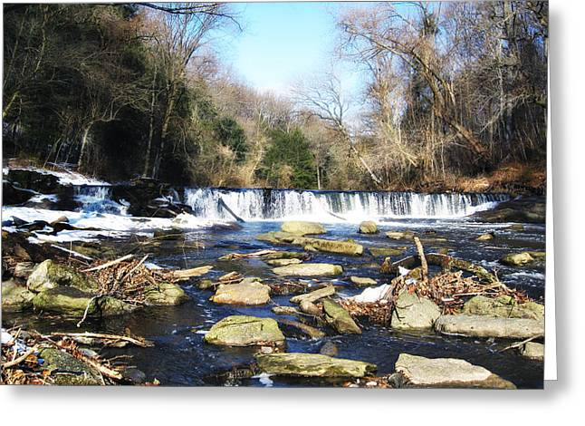 Wissahickon Creek Greeting Cards - The Wissahickon Creek in February Greeting Card by Bill Cannon