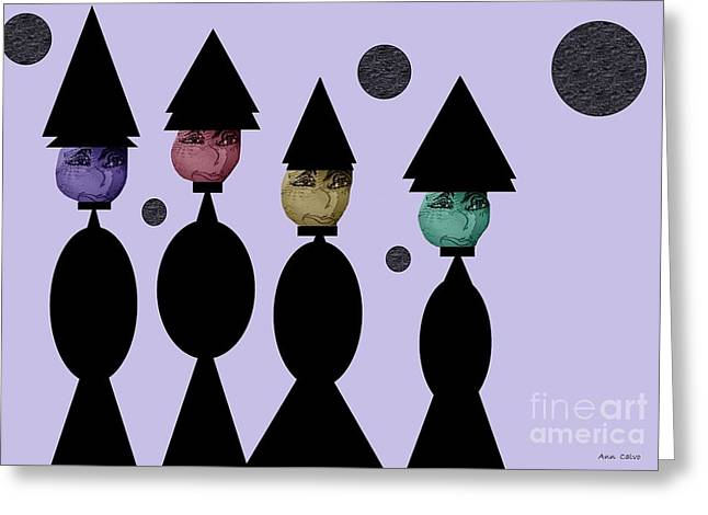 Bizzare Greeting Cards - The Witch Club Greeting Card by Sharon Ann Calvo