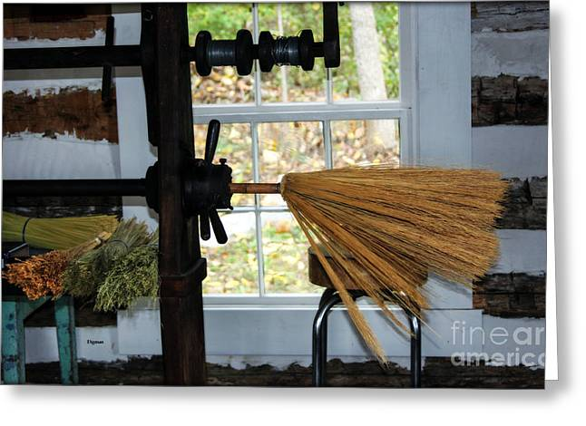 Broom Broom Greeting Cards - The Witches Art  Greeting Card by Steven  Digman