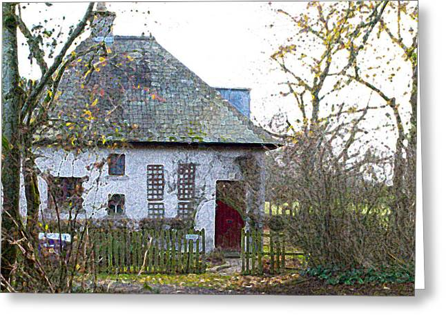 The Witches Cottage Greeting Card by Dave Byrne