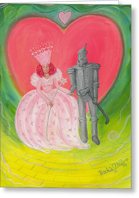 Good Witch Greeting Cards - The Wizard Couple Greeting Card by Beckie J Neff