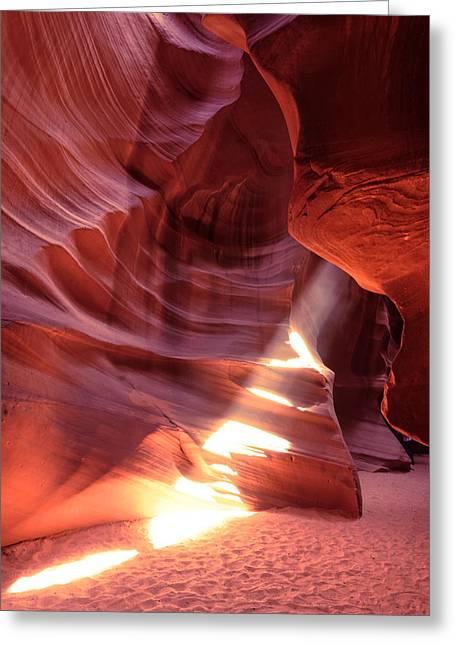 The Wizard Of Antelope Canyon Navajo Nation Page Arizona Greeting Card by Silvio Ligutti