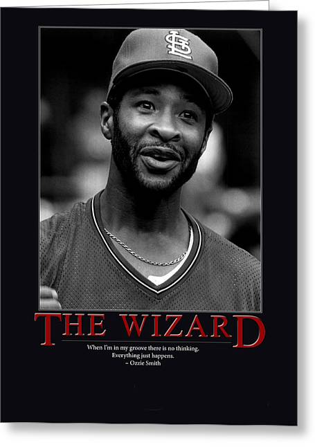 Giant Greeting Cards - The Wizard Ozzie Smith Greeting Card by Retro Images Archive