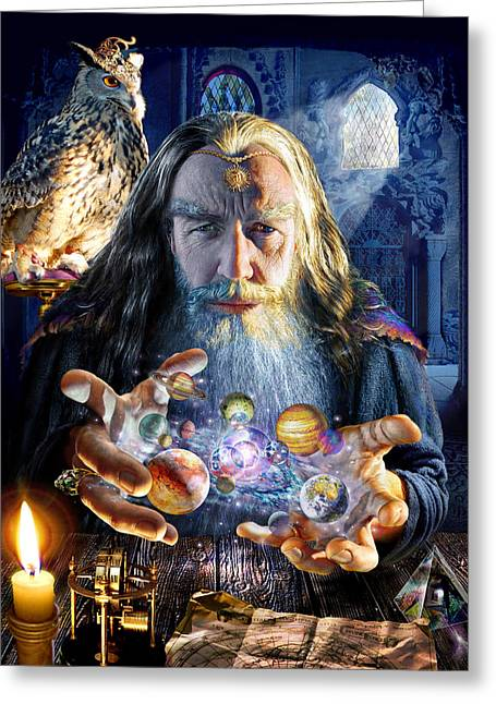 Puzzles Greeting Cards - The Wizards World Greeting Card by Adrian Chesterman