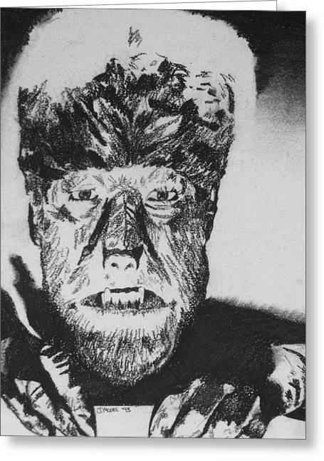 Wolf Man Greeting Cards - The Wolf Man Greeting Card by Jeremy Moore