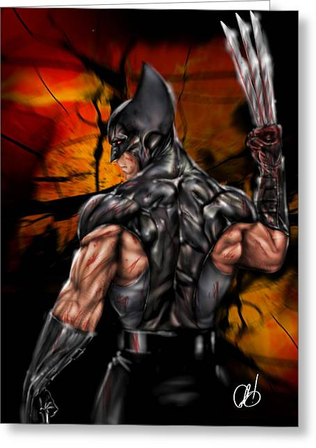 Pete Tapang Greeting Cards - The Wolverine Greeting Card by Pete Tapang