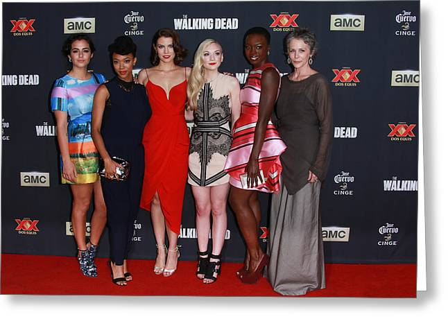 Masterson Greeting Cards - The Women Of The Walking Dead Greeting Card by David Acosta