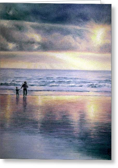 Christianity Pastels Greeting Cards - The Wonder of Light Greeting Card by Rosemary Colyer