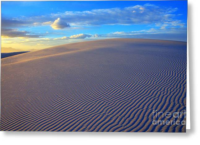 Sand Pattern Greeting Cards - The Wonder Of New Mexico Greeting Card by Bob Christopher