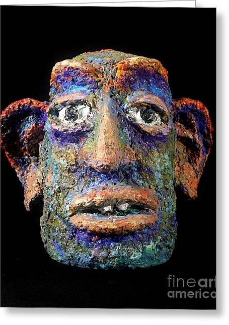 New York Sculptures Greeting Cards - The Wonderer Greeting Card by Arthur Robins