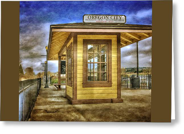 The Oregon City Train Depot Greeting Card by Thom Zehrfeld