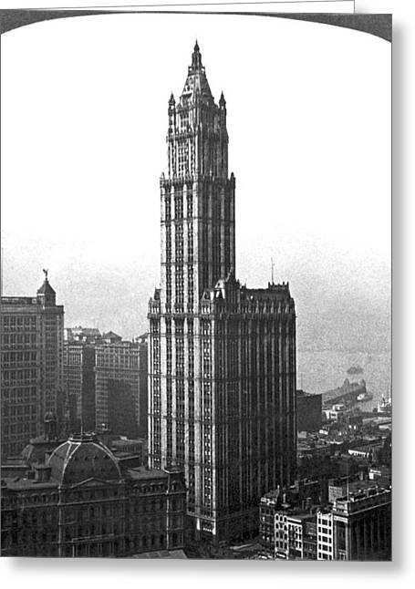The Woolworth Building In Nyc Greeting Card by Underwood Archives