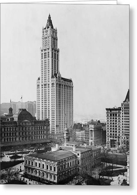 Woolworth Greeting Cards - The Woolworth Building - New York City 1913 Greeting Card by Mountain Dreams