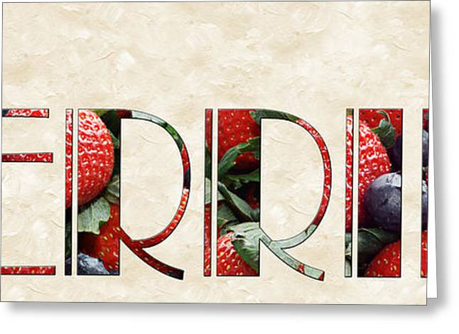 Passion Fruit Greeting Cards - The Word Is Berries  Greeting Card by Andee Design