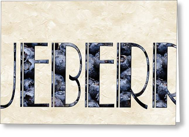 Awesome Mixed Media Greeting Cards - The Word Is Blueberries Greeting Card by Andee Design