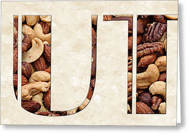 Nuts Mixed Media Greeting Cards - The Word Is Nuts Greeting Card by Andee Design