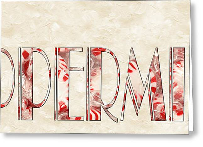 Peppermint Greeting Cards - The Word Is Peppermints Greeting Card by Andee Design