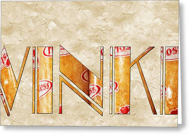 Hostess Greeting Cards - The Word Is Twinkies Greeting Card by Andee Design