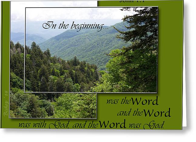 Bible Verse Canvas Art Prints Greeting Cards - The Word Greeting Card by Larry Bishop