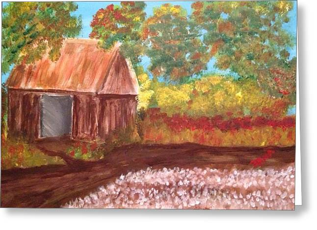 Shed Paintings Greeting Cards - The Work Shed Greeting Card by Rena