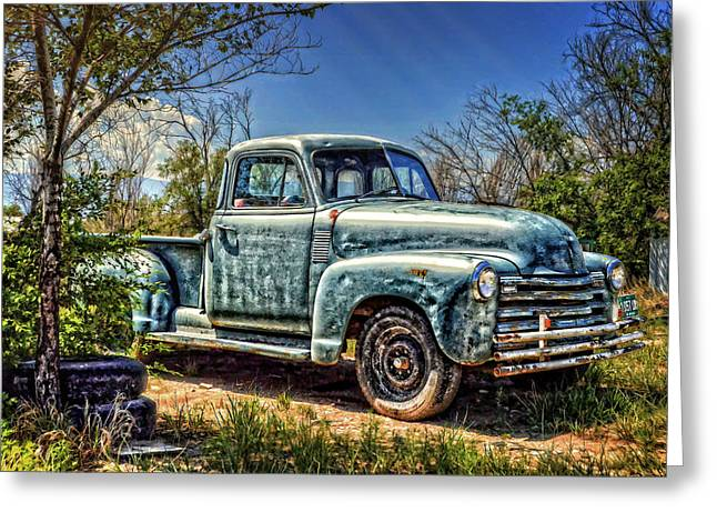 Chevy Pickup Greeting Cards - The Work Truck Greeting Card by Ken Smith