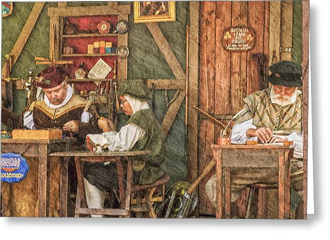 Colonial Man Digital Greeting Cards - The Workers Greeting Card by Camille Lopez