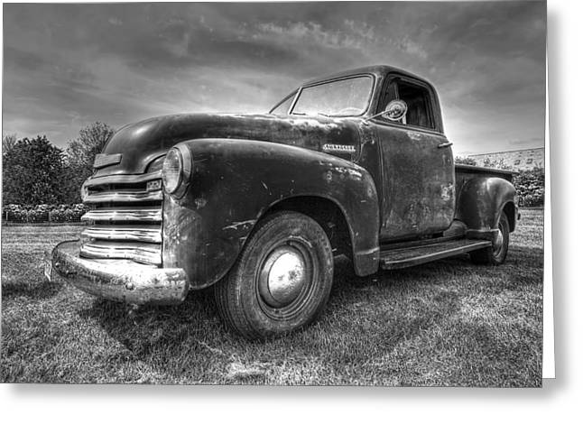 Old Pickup Greeting Cards - The Workhorse - 1953 Chevy Pickup Greeting Card by Gill Billington