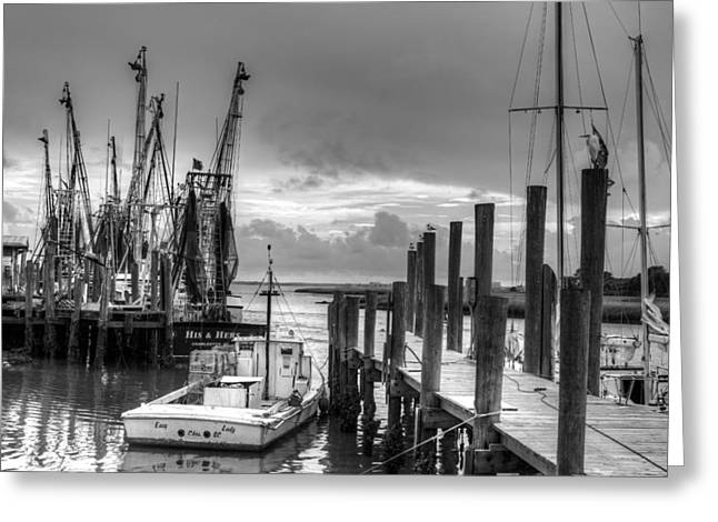 The Working Boats Greeting Card by Walt  Baker