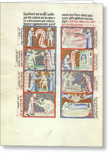 The Works Of Mercy Greeting Card by British Library