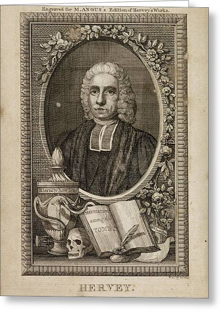 The Works Of The Late Reverend James Herv Greeting Card by British Library