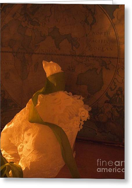 White Dress Sculptures Greeting Cards - The World at my Feet Greeting Card by Nancy Kane Chapman
