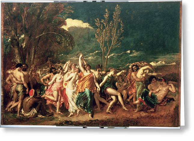 Dancing Girl Greeting Cards - The World Before The Flood Greeting Card by William Etty