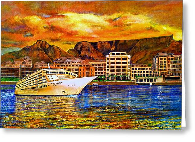 Cape Town Paintings Greeting Cards - The World Comes To Cape Town Greeting Card by Michael Durst