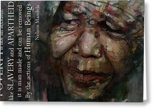 Unique Art Paintings Greeting Cards - The World Holds Its Breathe Greeting Card by Paul Lovering