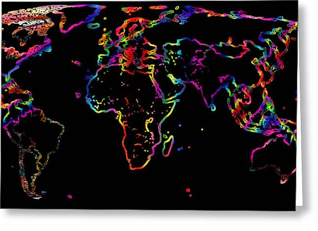 Value Digital Art Greeting Cards - The World In The Past Greeting Card by Augusta Stylianou