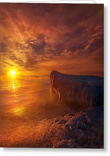 Ice-t Greeting Cards - The World That Time Forgot Greeting Card by Phil Koch