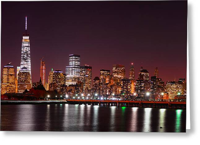 Division Greeting Cards - The World Trade Center Greeting Card by Raymond Salani III
