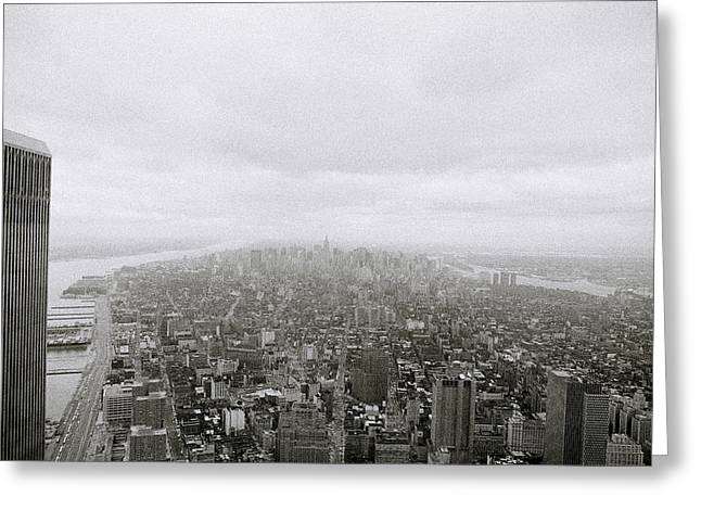 Twin Towers Of The World Trade Center Greeting Cards - The World Trade Towers Greeting Card by Shaun Higson