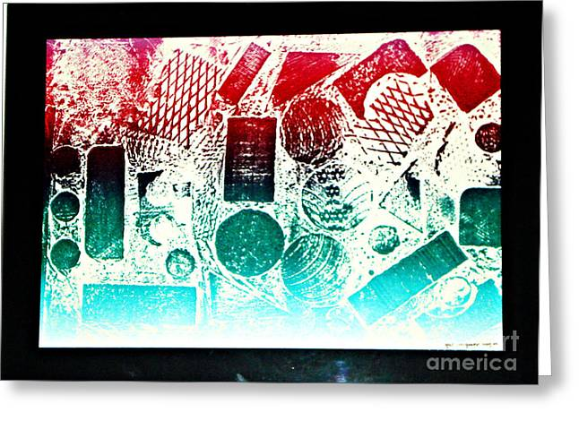 Printed Reliefs Greeting Cards - The World Greeting Card by Yael VanGruber