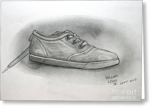 The Worn Sneaker Greeting Card by William Lewis